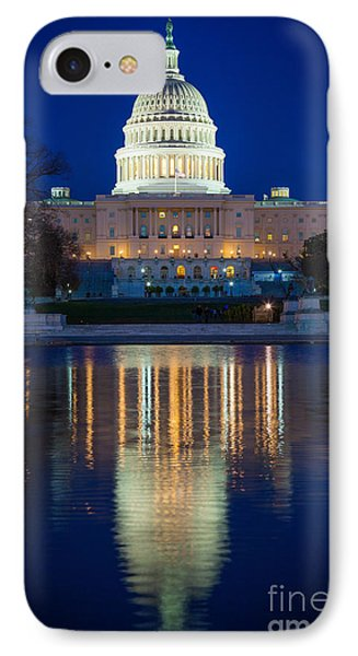 Us Capitol Reflections IPhone Case by Inge Johnsson