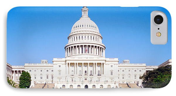 Capitol Building iPhone 7 Case - Us Capitol, Washington Dc, District Of by Panoramic Images
