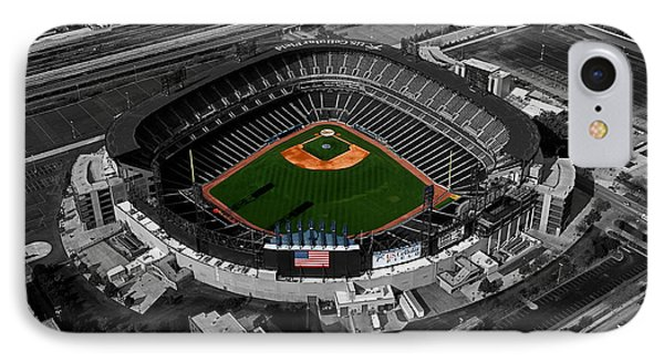 Us Cellular Field Chicago Sports 08 Selective Coloring Digital Art Phone Case by Thomas Woolworth