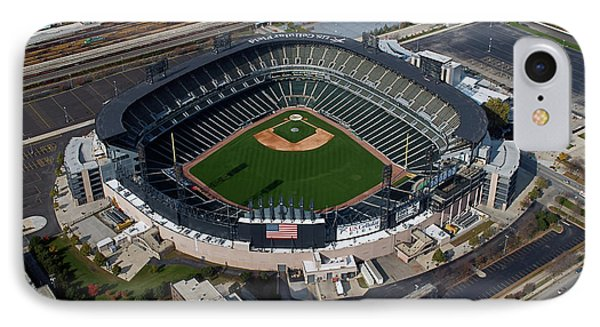 Us Cellular Field Chicago Sports 08 Phone Case by Thomas Woolworth
