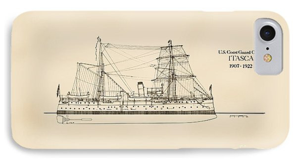U. S. Coast Guard Cutter Itasca IPhone Case by Jerry McElroy - Public Domain Image