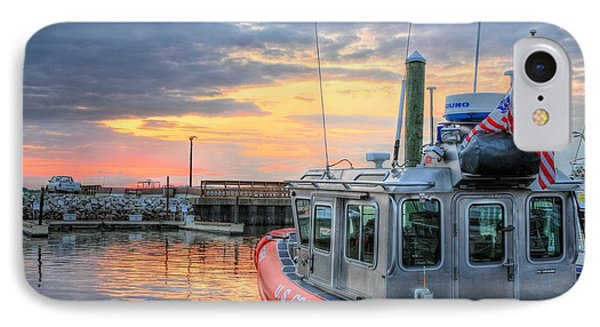 Us Coast Guard Defender Class Boat IPhone Case by JC Findley