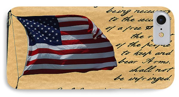 Us Constitution 2nd Amendment Flag IPhone Case by Robyn Stacey