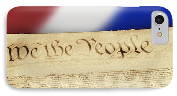 Us Constitution IPhone Case by Linda Phelps