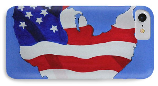 Us Flag IPhone Case by Lorna Maza