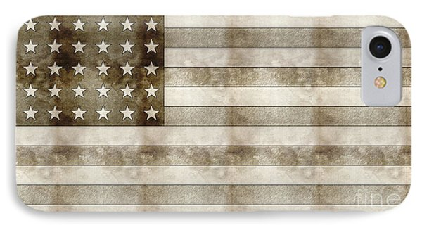 Us Flag Sketch IPhone Case by Celestial Images
