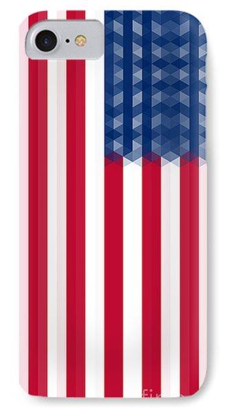Us  Flag Vertical IPhone Case