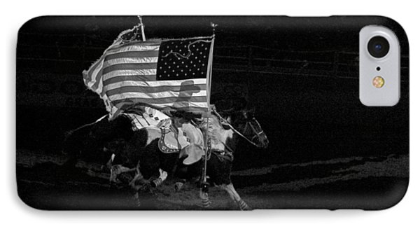 IPhone Case featuring the photograph U.s. Flag Western by Ron White