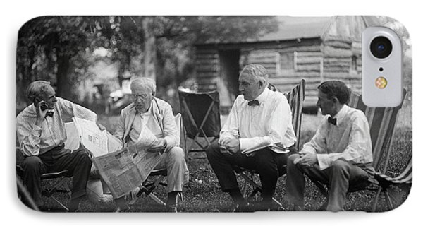 Us Industrialists And Us President IPhone Case by Library Of Congress