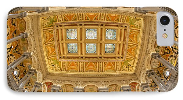 Us Library Of Congress Phone Case by Susan Candelario