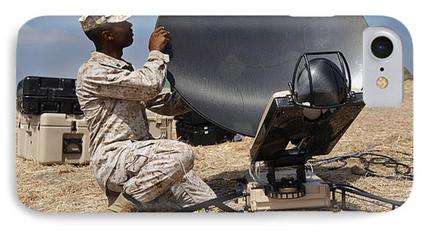 U.s. Marine Assembles A Support Wide Phone Case by Stocktrek Images