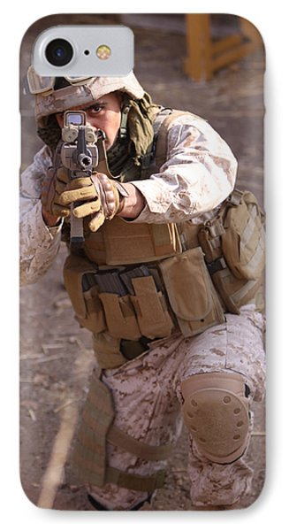 Us Marine At Work Phone Case by Shoal Hollingsworth