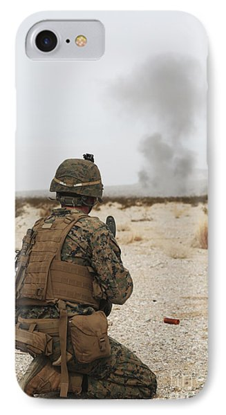 U.s. Marine Provides Security As Part Phone Case by Stocktrek Images
