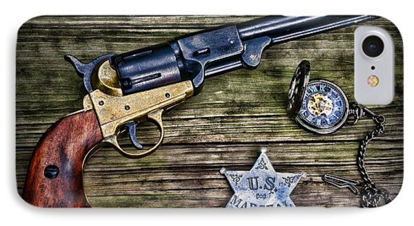 Us Marshall - American Justice - Cowboy IPhone Case by Paul Ward