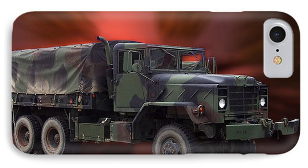 Us Military Truck Phone Case by Thomas Woolworth