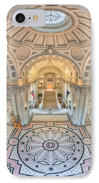 Us Naval Academy Bancroft Hall IIi IPhone Case by Clarence Holmes