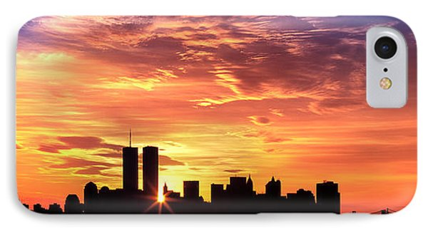 Us, New York City, Skyline, Sunrise IPhone Case by Panoramic Images
