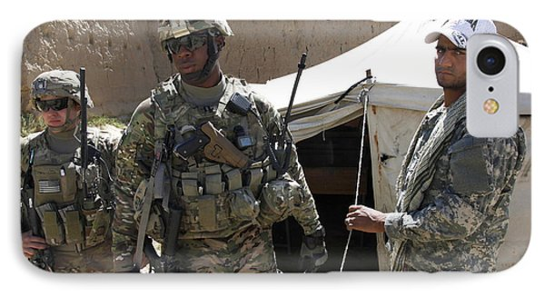 U.s. Soldiers Take A Tour Of The Petawa IPhone Case by Stocktrek Images