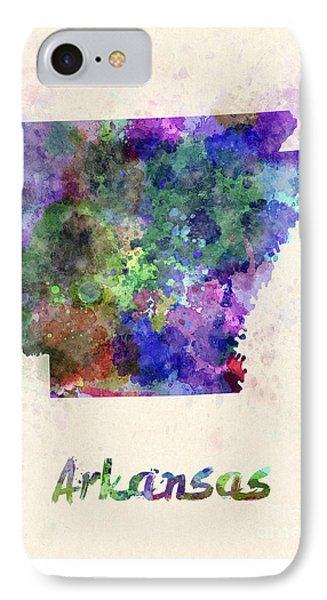 Us State In Watercolor Phone Case by Pablo Romero