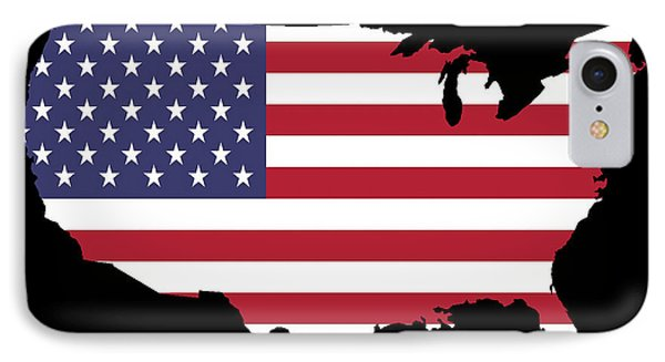 Usa And Flag IPhone Case by Pete Trenholm