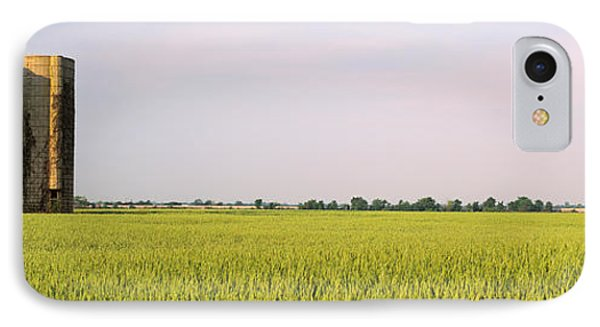 Usa, Arkansas, View Of Grain Silos IPhone Case by Panoramic Images