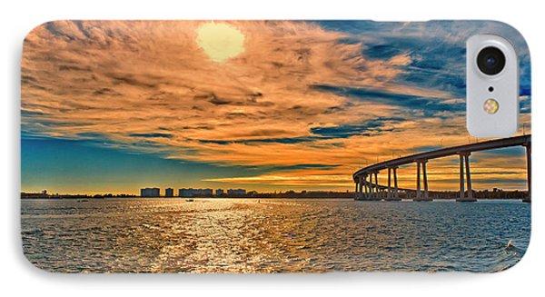 Usa, Ca, San Diego-coronado Bay Bridge IPhone Case by Rona Schwarz