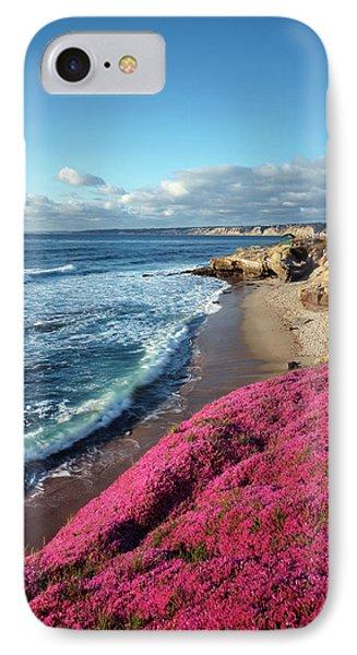 Usa, California, La Jolla, Flowers IPhone Case by Christopher Talbot Frank