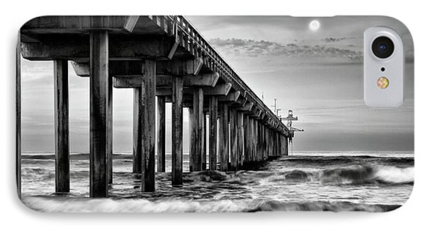 Usa, California, La Jolla, Full Moon IPhone Case by Ann Collins