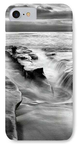 Usa, California, La Jolla, Rising Tide IPhone Case by Ann Collins