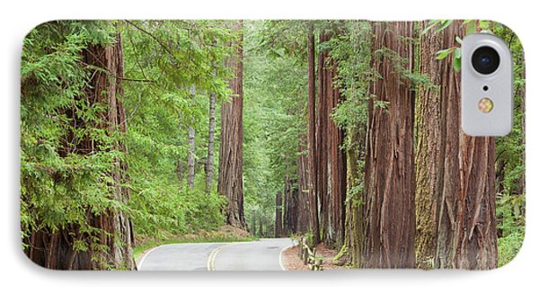 Usa, California View Of Road IPhone Case
