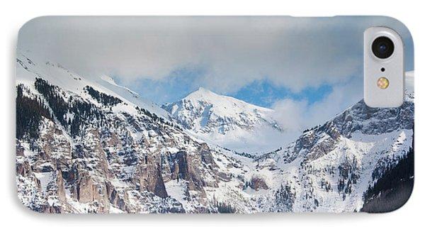 Usa, Colorado, Telluride, Ajax Peak IPhone Case by Walter Bibikow