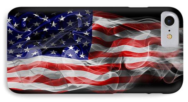 Usa Flag Smoke  Phone Case by Jt PhotoDesign
