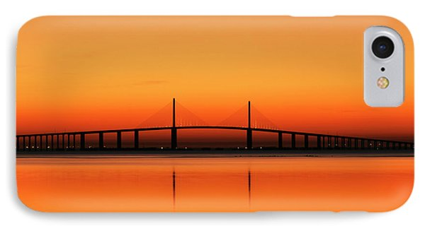 Usa, Florida, Sunshine Skyway Bridge IPhone Case by Adam Jones