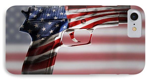 Usa Gun  IPhone Case by Les Cunliffe