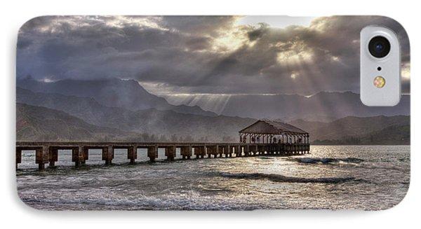 Usa, Hawaii, Maui, Hanalei, Hanalei IPhone Case by Terry Eggers