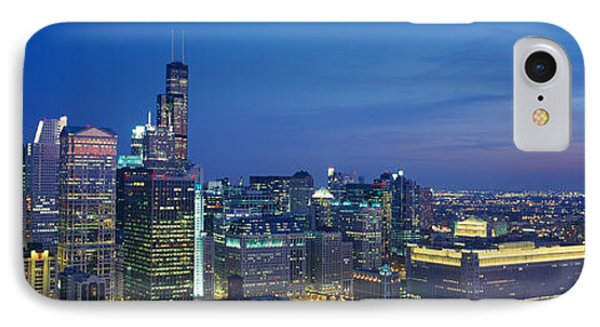 Usa, Illinois, Chicago, Twilight IPhone Case by Panoramic Images
