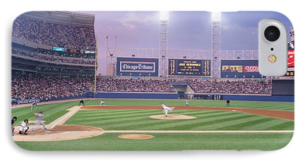 Usa, Illinois, Chicago, White Sox IPhone Case by Panoramic Images