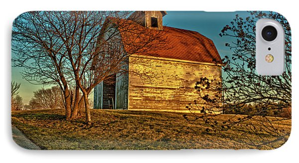 Usa, Indiana, Rural Scene Of Red-roofed IPhone Case