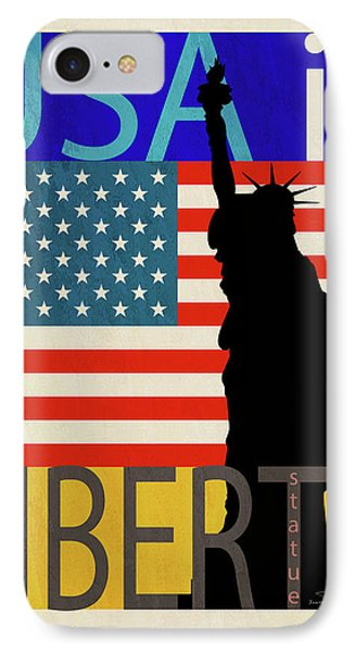 Usa Is Liberty IPhone Case by Joost Hogervorst