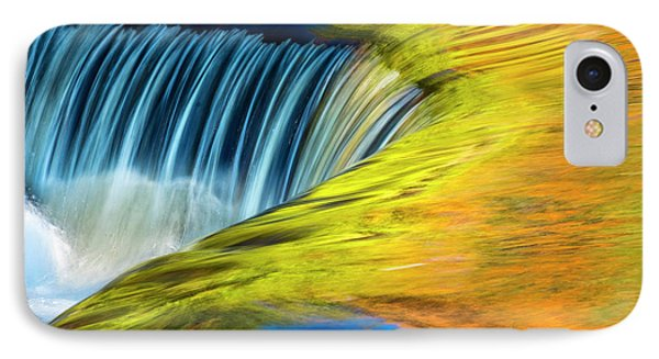 Usa, Michigan, Waterfall, Abstract IPhone Case