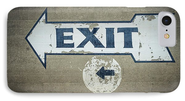 Usa, Mississippi, Exit Sign In Great Phone Case by Dosfotos