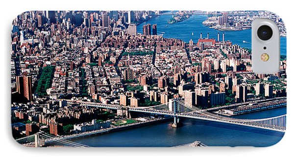 Usa, New York, Brooklyn Bridge, Aerial IPhone Case by Panoramic Images