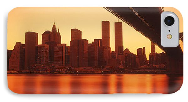 Usa, New York, East River And Brooklyn IPhone Case by Panoramic Images