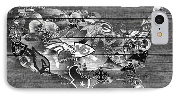 Usa Nfl Map Collage 11 IPhone Case