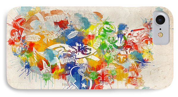 Usa Nfl Map Collage 12 IPhone Case