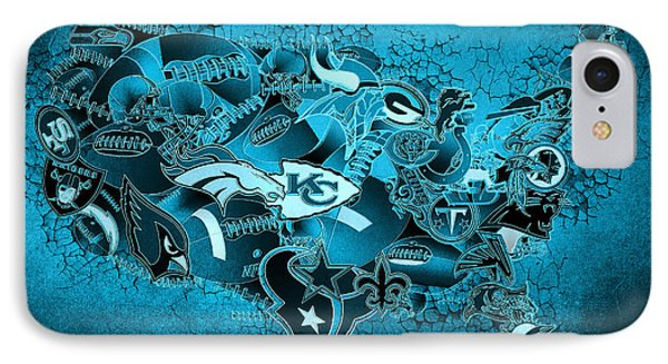 Usa Nfl Map Collage 13 IPhone Case