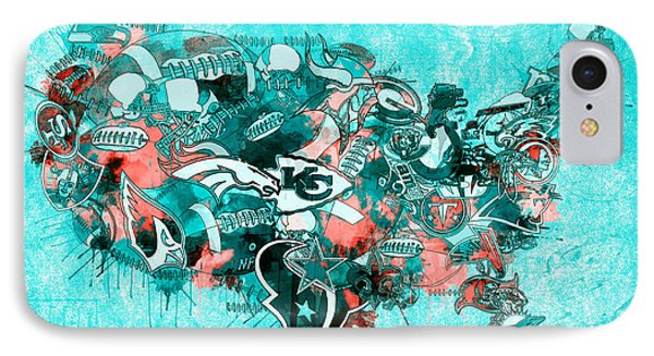 Usa Nfl Map Collage 9 IPhone Case