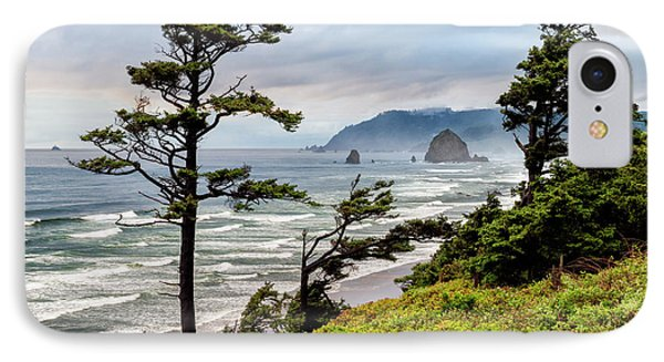 Usa, Oregon, Cannon Beach, View IPhone Case by Ann Collins