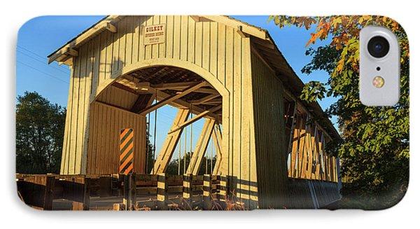 Usa, Oregon, Scio, The Gilkey Bridge IPhone Case by Rick A Brown