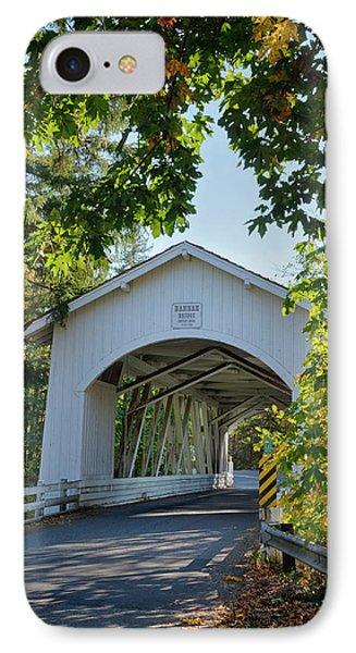 Usa, Oregon, Scio, The Hannah Bridge IPhone Case by Rick A Brown